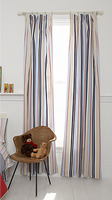 Whistle & Wink Khaki Preppy Stripe Window Panel