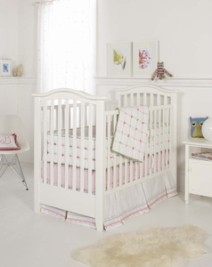 Whistle & Winks Tufted  3 Piece Baby Crib Bedding
