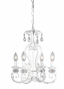 White 4 Arm Silhouette Chandelier