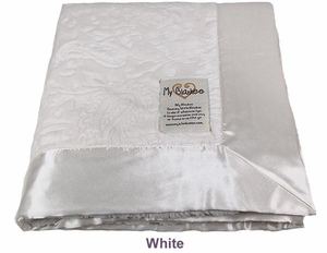 White Embossed Paisley Security Blanket