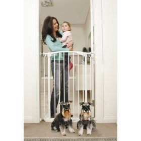 White Extra Tall Swing Close Security Gate , L782W