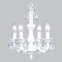 White Fountain 4 Arm Chandelier