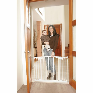 White Swing Close Hallway Security Gate, L790W