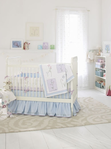 Wildflower 3 Piece Baby Crib Bedding Set by Whistle and Wink