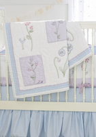 Wildflower Crib Quilt by Whistle and Wink