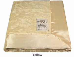 Yellow Embossed Paisley Security Blanket