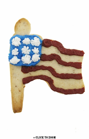 American Flag Sugar Cookie Flavored with Bacon