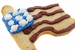 American Flag Sugar Cookie Flavored with Bacon - Click to Enlarge