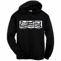 Bacon: Breakfast, Lunch, Dinner Hooded Sweatshirt - Black