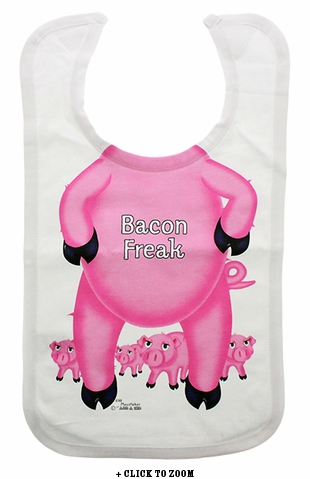 Bacon Freak Oversized Bib