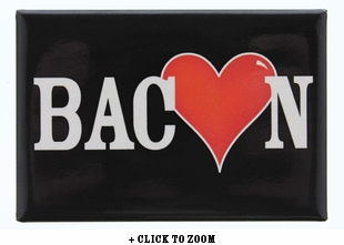 Bacon Heart Metal Magnet