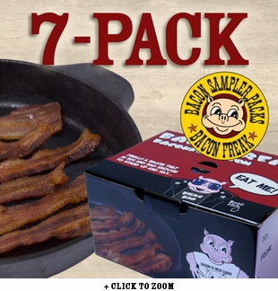 Bacon is Meat Candy Bacon Sampler - 7 Different Bacons