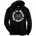 Bacon Is Meat Candy (Circle) Hooded Sweatshirt