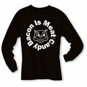 Bacon Is Meat Candy (Circle) Long Sleeve Shirt