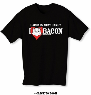 Bacon Is Meat Candy (I Heart Bacon) Mens T-Shirt