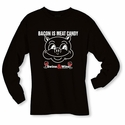 Bacon Is Meat Candy (Swine & Wine) Long Sleeve Shirt