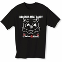 Bacon Is Meat Candy Men's (Swine & Wine) T-Shirt