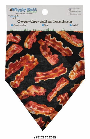 Bacon Lovin' Large Dog Bandana