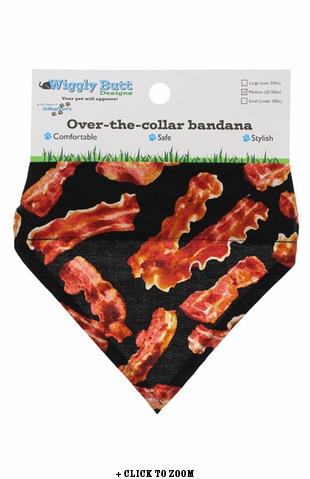 Bacon Lovin' Medium Dog Bandana