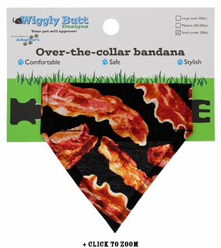 Bacon Lovin' Small Dog Bandana