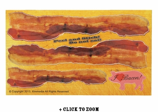 Bacon Strip 3D Textured Sticker