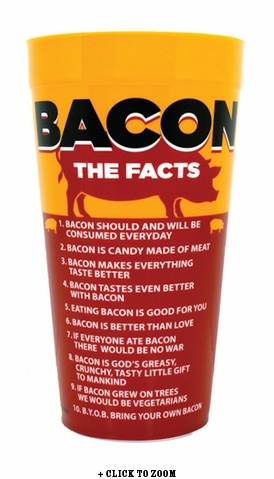 """Bacon: The Facts"" Plastic Cup"