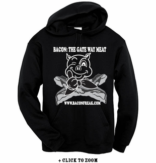 Bacon: The Gateway Meat - Hooded Sweatshirt