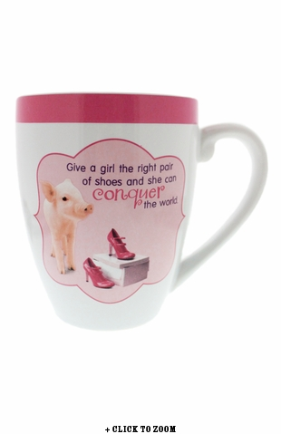 """Believe In Yourself"" Oversized Piggy Mug"