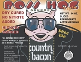 Boss Hog No Nitrite Hickory Smoked Country Bacon