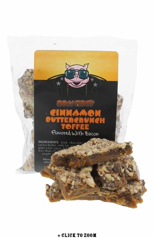 Boss Hog's Cinnamon Buttercrunch Toffee Flavored With Bacon