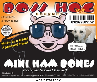 Boss Hogs Mini Ham Bones for Dogs (4 Mini Bones)