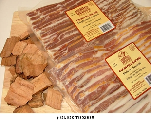 Broadbents Bacon Sampler - Hickory Smoked Bacon & Maple Wood Smoked Bacon Combo Pack