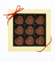 Milk Chocolate Hearts Flavored With Bacon - 9pc
