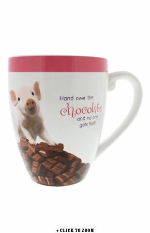 """Chocolate Lover"" Oversized Piggy Mug"