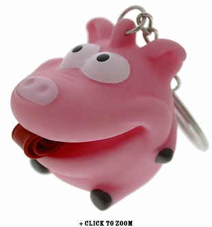 Crazy Tongue Pig Keychain