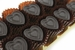 Dark Chocolate Hearts Flavored With Bacon - 9pc - Click to Enlarge
