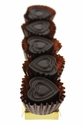 Dark Chocolate Hearts Flavored With Bacon - 5pc
