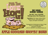 For The Love Of Hog! Apple Cinnamon Bacon