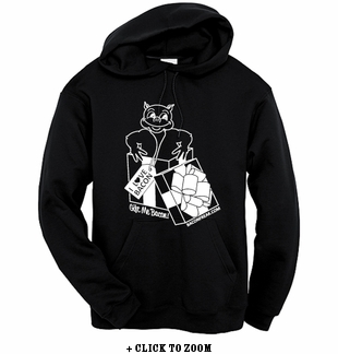 """Gift Me Bacon"" Hooded Sweatshirt - Black"