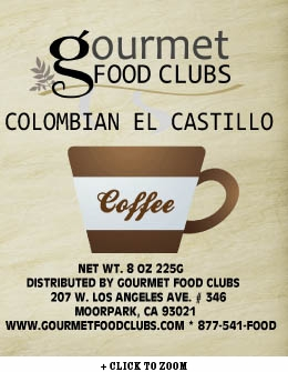 Gourmet Food Clubs Colombian El Castillo Coffee