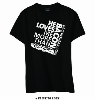 He Loves Me More Than Bacon - Square Logo Women's Classic Fit Shirt