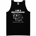 I Am A Meatatarian Mens Tank Top - Black