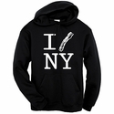 """I Bacon New York"" Hooded Sweatshirt - Black"