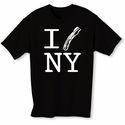 """I Bacon New York"" Mens T-shirt - Black - Blue or Pink"