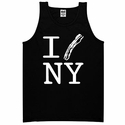 """I Bacon New York"" Mens Tank Top - Black"
