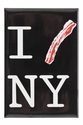 """I Bacon New York"" Metal Magnet"