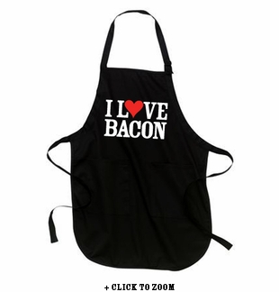 """I Love Bacon"" Apron - Black"