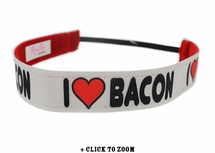 """I Love Bacon"" Headband"