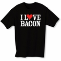 """I Love Bacon"" Mens T-shirt - Black - Blue or Pink"