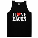 """I Love Bacon"" Mens Tank Top - Black"